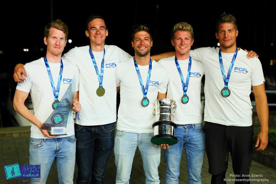 J24 Európa-bajnok az FGF csapat Bakóczy Róbert vezetésével